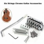 6 Strings Chrome Guitar Tremolo Bridge With Bar Guitar Accessories