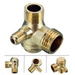 90 Degree Brass Copper Male Threaded Check Valve Connector Tool for Air Compressor