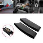 2Pcs Black Car Interior Catch Catcher Storage Organizer Box Seat Slit Pocket