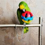 3 Types Bird Parrot Chew Ball Hang Cage Climbing Toy Swing Ball Budgie