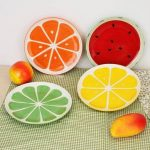 Lovely Hand Painted Plate Fruit Watermelon Lemon Ceramic Plate Creative Tableware