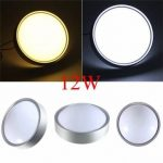 Modern 12W Round LED Flush Mounted Ceiling Down Light Wall Kitchen Bathroom Lamp