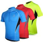 ARSUXEO Men's Short Sleeve Cycling Jersey Bike Bicycle Jersey Outdoor Sports Clothing