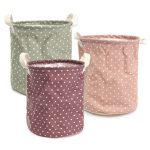 23 26cm Cotton Linen Storage Clothes Basket Laundry Hamper Daily Stuff Bag