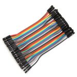 40Pcs 10cm Female To Female Jumper Cable For Arduino