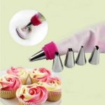 5Pcs Stainless Steel Nozzles Dual Color Lcing Piping Bag Cake Tool Cake Decoration Converter