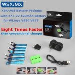 6 IN 1 Battery Package 3.7V 520mAh 30C Battery for WLtoys V930 V977 XK K110