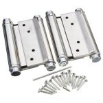 2 pieces 4 Inch Double Open Hinge Hardware Kitchen Gate Saloon Cafe Door