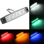 12V 6LED Truck Bus Trailer Side Marker Indicator Light Lamp