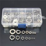 260Pcs Stainless Steel Washer Spring Pad Assortment Set M2.5-M10