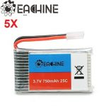 5X Eachine 3.7V 750mah 25C Lipo Battery for Eachine E30 E30W Syma X5 X5C X5SC X5SW CX30W