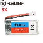 5X Eachine 3.7V 500mah 25C Lipo Battery for Hubsan H107 H107L H107C H107D
