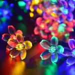 50 LED Solar Power Colorful Flower String Fairy Lights Xmas Wedding Garden Party Holiday Decor