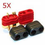 5 Pair X Amass T Plug Connector Male Female With Sheath