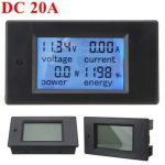 20A DC Digital Multifunction Power Meter Energy Monitor Module Voltmeter Ammeter 6.5V-100V