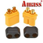 Amass XT60 Plug Connector With Sheath Housing Male Female 1 Pair