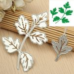 Silver Leaves Cutting Dies Scrapbooking Album Paper Card Embossing Stencil Craft