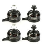 4X Racerstar Racing Edition 2205 BR2205 2600KV 2-4S Brushless Motor Black For 210 X220 250 280