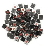 100Pcs 6 X 6 X 2.5mm Tactile Push Button Switch Tact Switch Micro Switch 4-Pin SMD