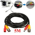 5M 2-in-1 Audio Video Power Cable CCD Security Camera BNC RCA CCTV DVR Wire Cord