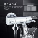 """KCASA""""¢ Copper Double Control Switch Water Knockout Trap Three Way Angle Valve Bath Water Diverter"""