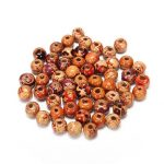 100Pcs Mixed Wood Round Spacer Charm Loose Beads DIY Jewelry