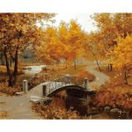 40X50CM Frameless The Autumn Wind Is Soughing Linen Canvas Oil Painting DIY Paint By Number