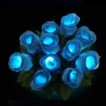 5pcs Colorful LED Rose Flower Flashing Glowing Bouquet Wedding Vanlentine Party Decoration