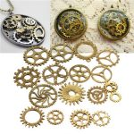 17pcs Steampunk Cyberpunk Cogs Gears Parts DIY Craft Decorations
