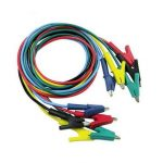 P1024 5 Colours 100CM 15A Double-ended Clips Cable Alligator Testing Probe Lead Wire