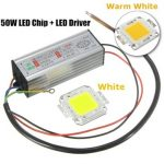 High Power 50W LED SMD Chip Bulb with Waterproof Driver Supply DC20-40V