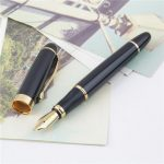 Jinhao X450 Black And Golden M Nib Fountain Pen