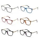 Unisex Women Men Retro Eyeglass Frame Full-Rim Clear Lens Metal Plain Glasses