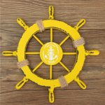 Nautical Wood Boat Ship Steering Wheel Net Party Beach Home Wall Decoration 28cm