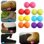 Double Lacrosse Yoga Peanut Balls Mobility Myofascial Trigger Point Stimulation Muscle Relaxation