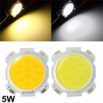 5W DIY LED COB Chip High Power Bead Light Lamp Bulb Warm/Cool White DC15-17V