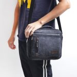 Multifunctional Men Retro Crossbody Bag Casual Shoulder Bag