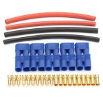 5 Pairs EC3 Connectors Lipo Battery Connector Heat Shrink