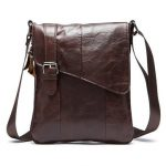 Men Business Genuine Leather Casual Khaki Coffee Black Shoulder Crossbody Bag