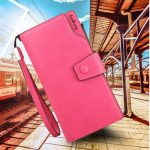 Women Hasp Long Wallet Girls Candy Color Purse Card Holder Coin Bags Phone Bags
