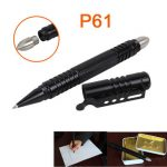P61 Tactical Pen Removable Steel Survival Hammer Self Defense Tools