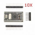 10Pcs Geekcreit Pro Mini ATMEGA328P 5V / 16M Improved Version Module For Arduino