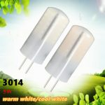 G4 2W 48 SMD 3014 LED Crystal Light Silicone Bulb Warm/Cold White Lamp For Home AC/DC 12V