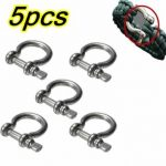 5Pcs Alloy Steel Shackle Buckle For Paracord Bracelet Camping Hiking Survival