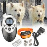 Rechargeable Waterproof 1000 Yard LCD Shock Vibra Remote Control Pet Dog Training Collar