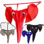 5 Colors Male Sexy Animal Elephant Long Nose T-Back Cute Cartoon Intimate Seduced Underwear