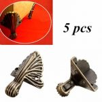5pcs Case Box Corners For Furniture Decorative Triangle Pattern Carved 3.2×1.5cm