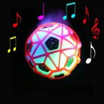 LED Light Jumping Ball Crazy Music Football Children's Funny Toy Gift