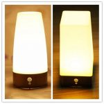 Wireless LED Night Light Table Bed Lamp Motion Sensor Battery Operated For Indoor Lighting