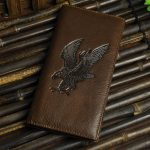 Men Business Real Cowhide Leather Wallet Animal Pattern Long Purse